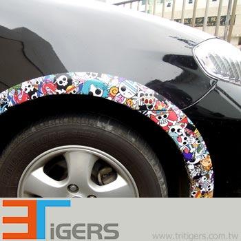White PVC for car wraps digital printing, Pattern-Cartoon