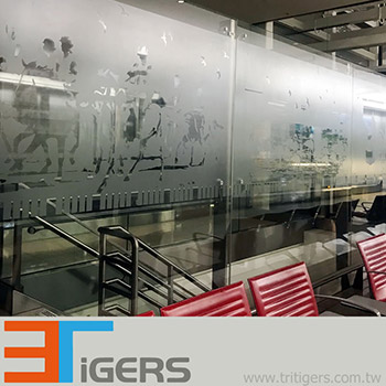 Frosted, self-adhesive window decoration PVC